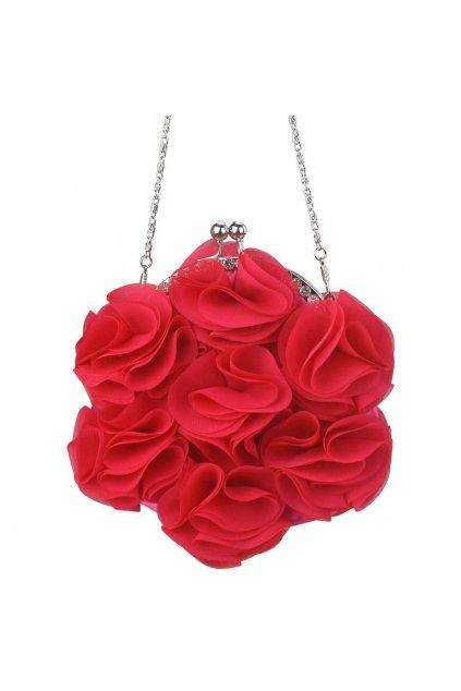 Ružová spoločenská kabelka LSE00101 clutch