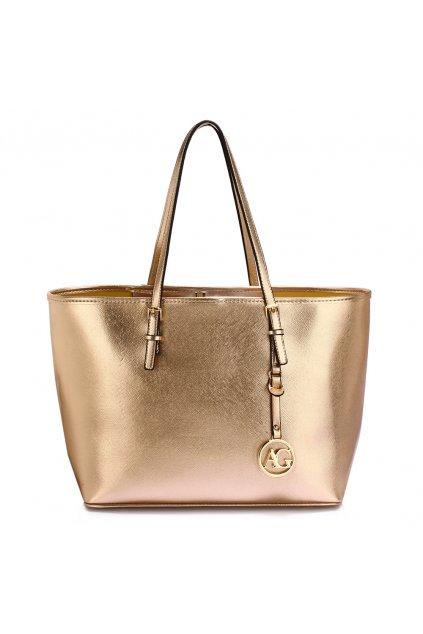 Zlatá kabelka na rameno Heidi