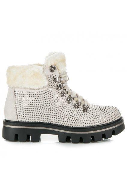 Béžová obuv na zimu K1710901BLA