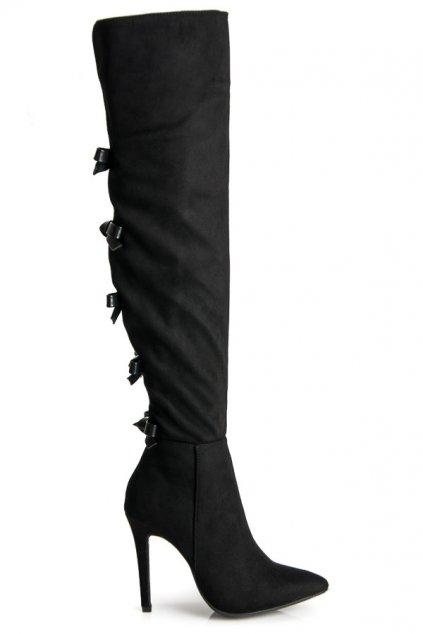 Čierne čižmy Irena 1359-1B