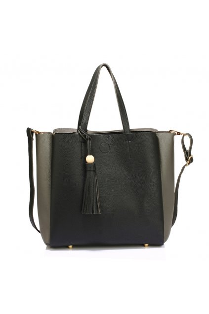 Čierno sivá kabelka na rameno Annie AG00550