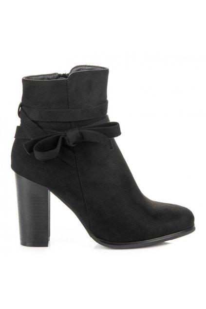 Čierne topánky s mašľou H197B