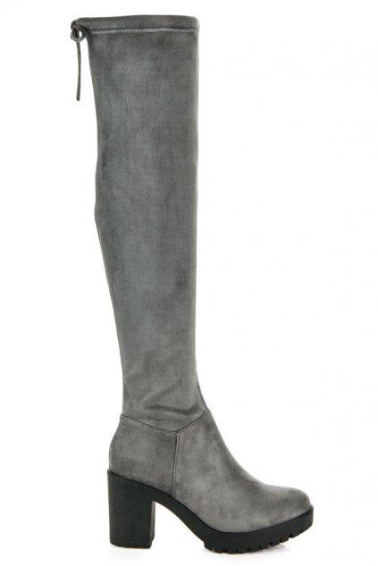 Sivé čižmy Matilda 1354-6D.G