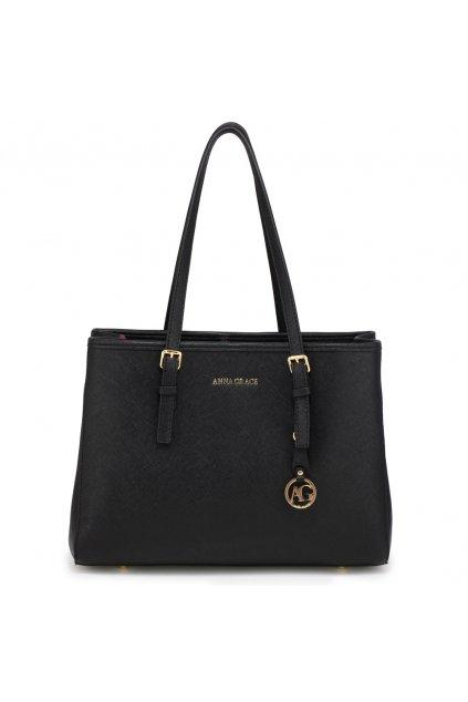 Čierna kabelka na rameno Mia AG00571