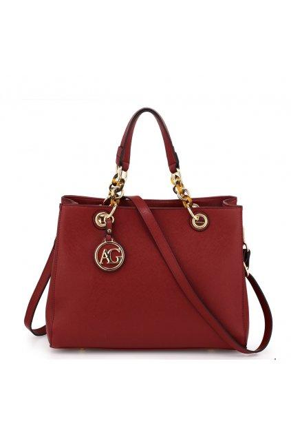 Bordová kabelka do ruky Zoe AG00536A