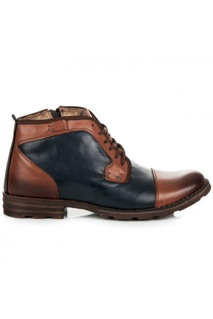 Kožené členkové topánky Lucca 253-1N/BR