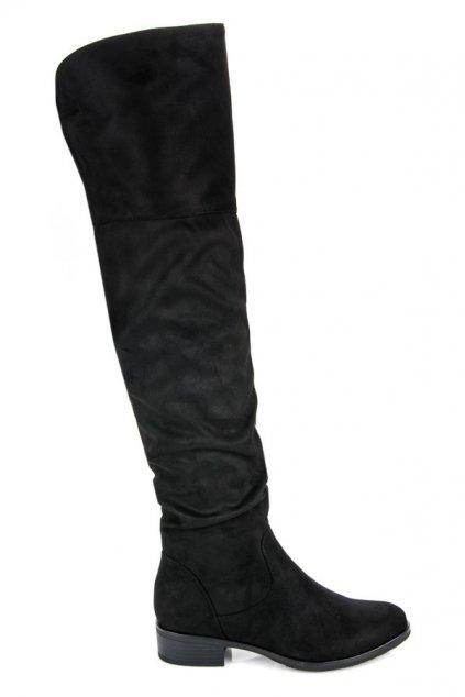 Čierne čižmy nad koleno Queentina