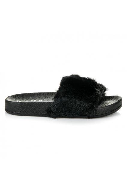 Dámske papuče čierne Vika
