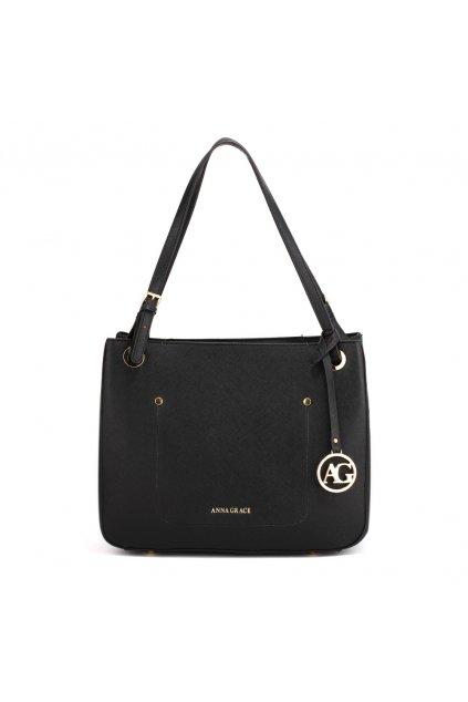 Čierna kabelka na rameno Alvena AG00570