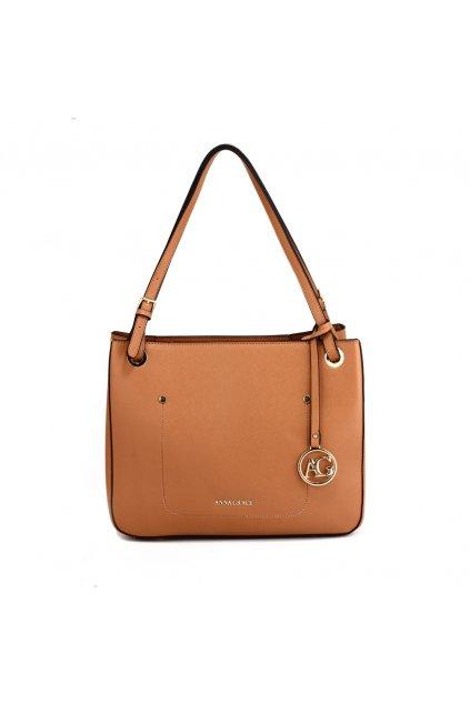 Hnedá kabelka na rameno Alvena AG00570