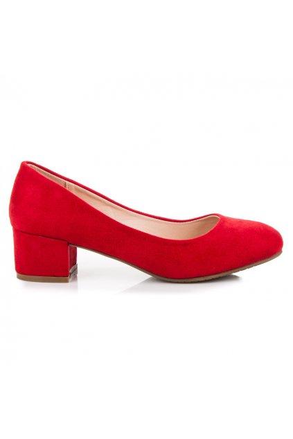 Červené lodičky semišové Best Shoes