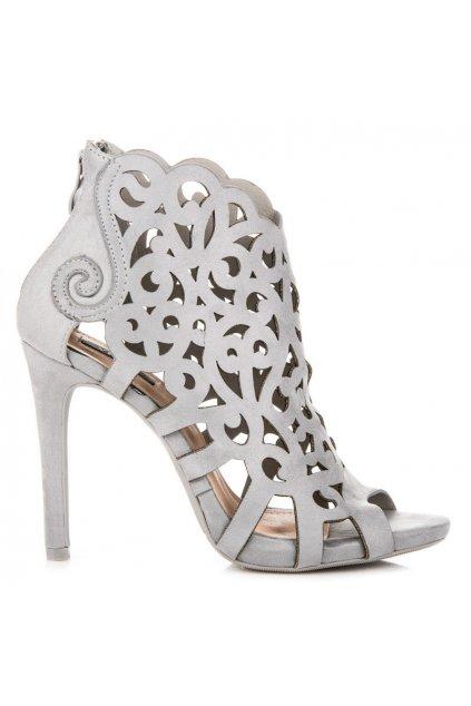 Ažúrové sandále sivé Vices
