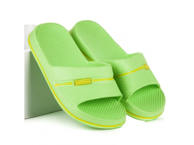 Detské zelené šľapky Hasby