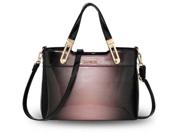 Lakovaná kabelka do ruky Gracie ružová AG00678