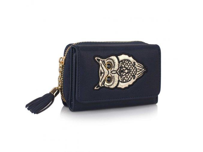 Námornícka modrá peňaženka pre ženy AG Sovy LSP1080