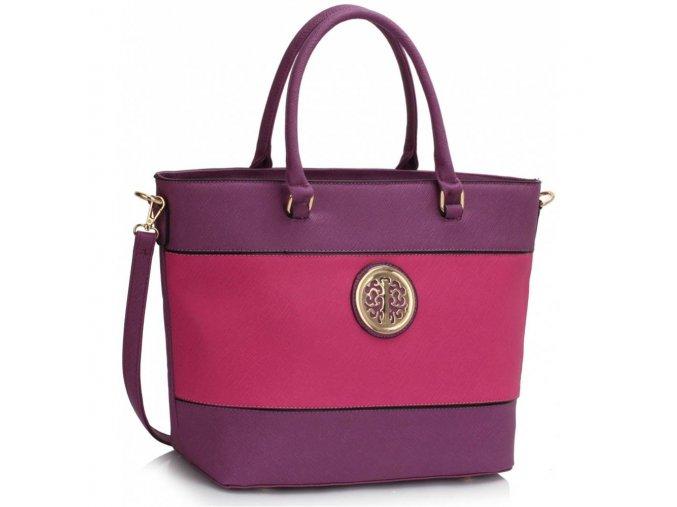 Shopper kabelka do ruky Arline A fialová / fuchsia LS00406A