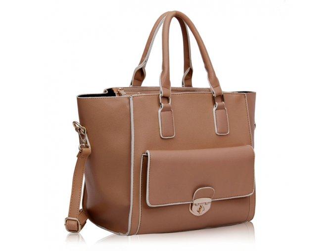 Shopper kabelka do ruky Bettina telová LS00225