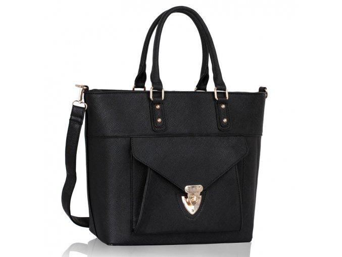 Shopper kabelka do ruky Courtney čierna LS00181A