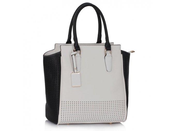 Shopper kabelka do ruky Darlyne čierna / biela LS00249A