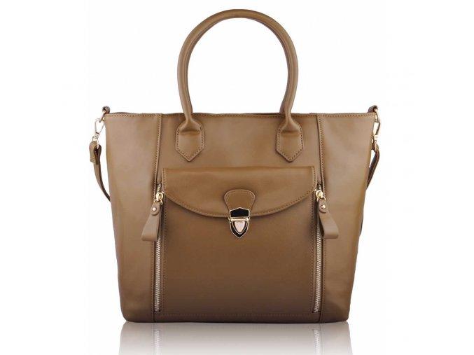 Shopper kabelka do ruky Leigh telová LS00170