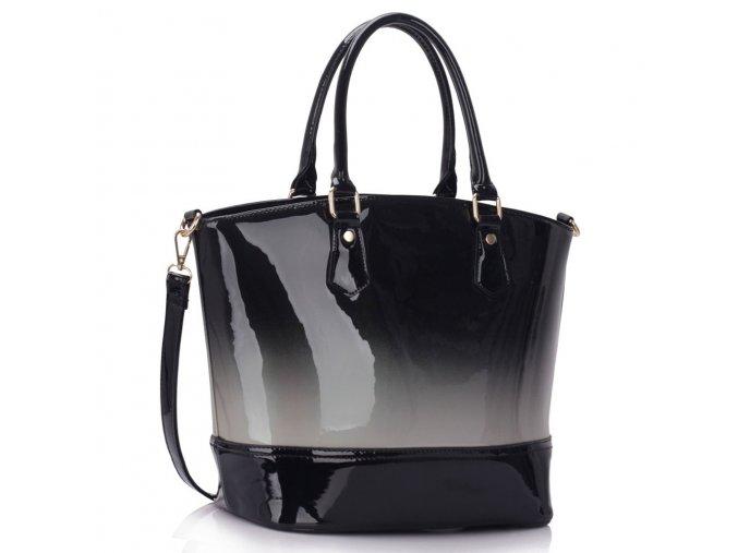 Trendová shopper kabelka do ruky Nabby strieborná LS0039A