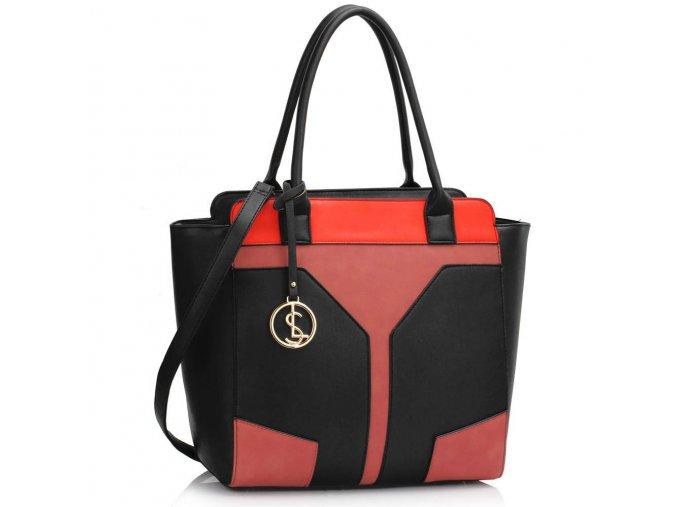 Trendy kabelka v čierno-ružovom prevedení Marcia