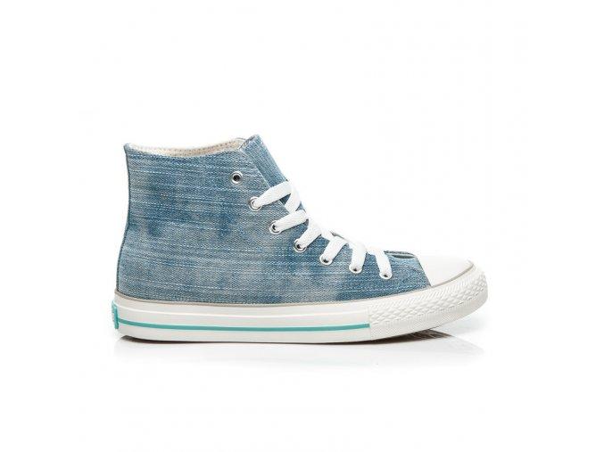 Modré džínsové tenisky HIGH TOP KYLIE veľ.č. 37, 41 (Veľkosť UK8 / EUR 41)
