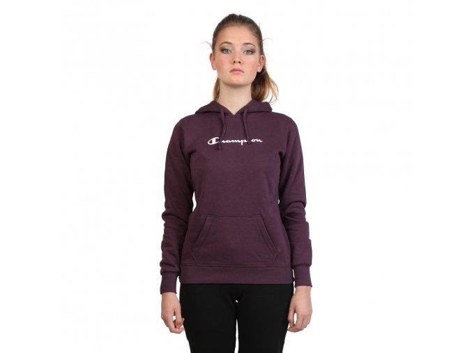 Dámska mikina s kapucňou Champion fialová (Veľkosť L,)