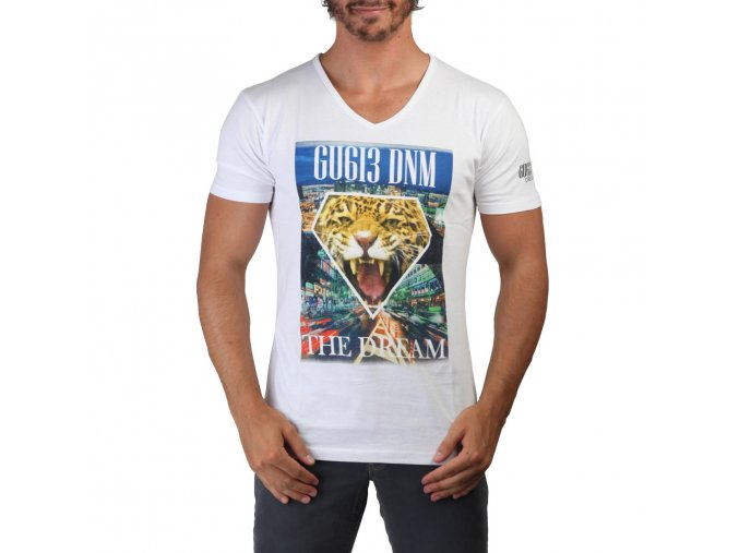 Pánske tričko s krátkym rukávom Geographical Norway Biele (Veľkosť XL,)