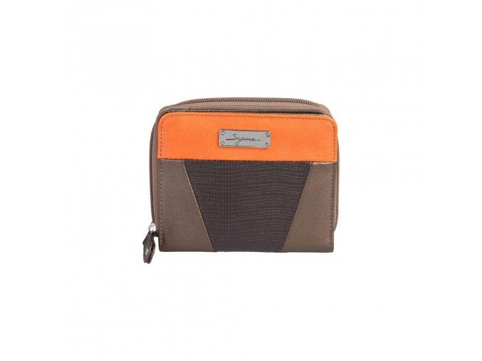 Peňaženka Segue 24286 bronzová / oranžová