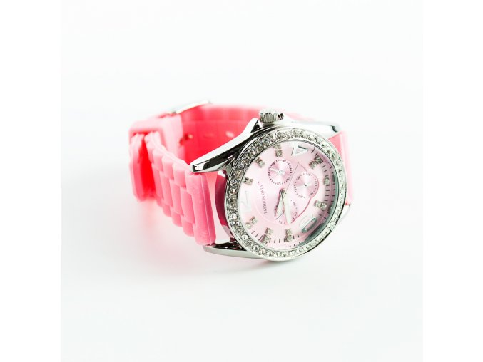 Ružové silikónové hodinky Fashion Only