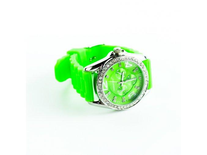 Zelené silikónové hodinky Fashion Only