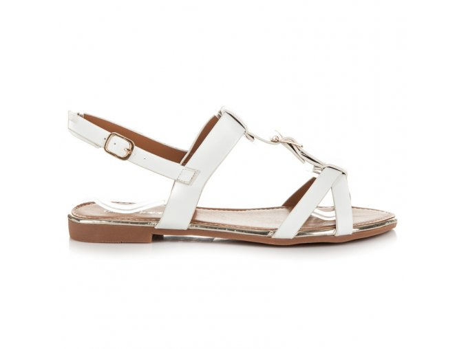 Biele sandále A066W