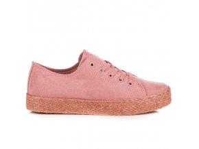 Ružové tenisky espadrilky Kylie K1830201ROSA