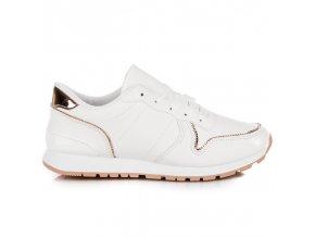 Biele štýlové tenisky Cnb BM1937W-P