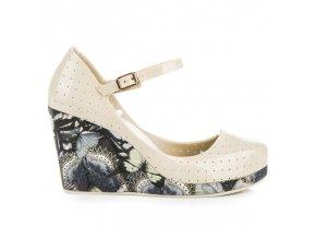 Sandále melisky na opätku béžové SY16-8905BE