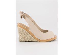 Béžové sandále espadrilky 1464-14BE