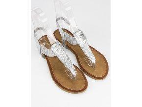 Sivé sandále žabky ALS023S