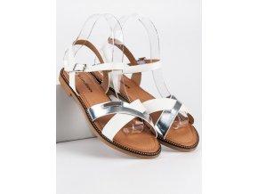 Štýlové biele sandále WL004W