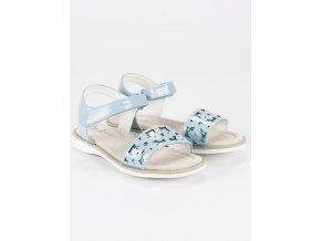 Modré detské sandále na suchý zips G-D11201B-A1LT.BL