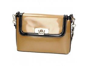 Lakovaná zlato-čierna listová kabelka MONNARI BAG2160 134bef8b1fd