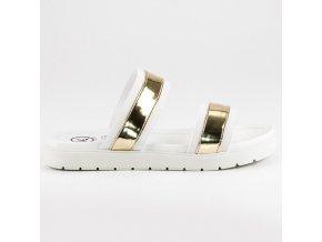 Vsuvky mirror biele K1604308BLA-ORO