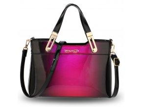 Lakovaná kabelka do ruky Gracie fialová AG00678