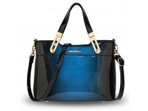 Lakovaná kabelka do ruky Gracie námornícka modrá AG00678