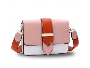 Crossbody kabelka ružová / biela / oranžová Kaylee AG00692