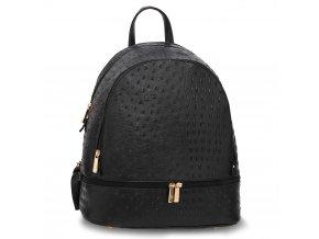 Jednofarebný ruksak Kelsie croc čierna AG00171A