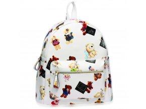 Farebný ruksak Teddy Bear biela AG00186
