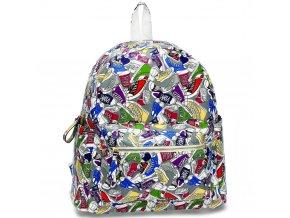 Farebný ruksak Print sivá AG00186