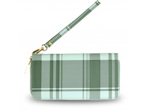 Károvaná smaragdová peňaženka Kaylyn AGP5010