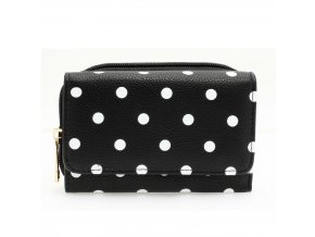 Čierna peňaženka pre ženy Polka Dot AGP1045B